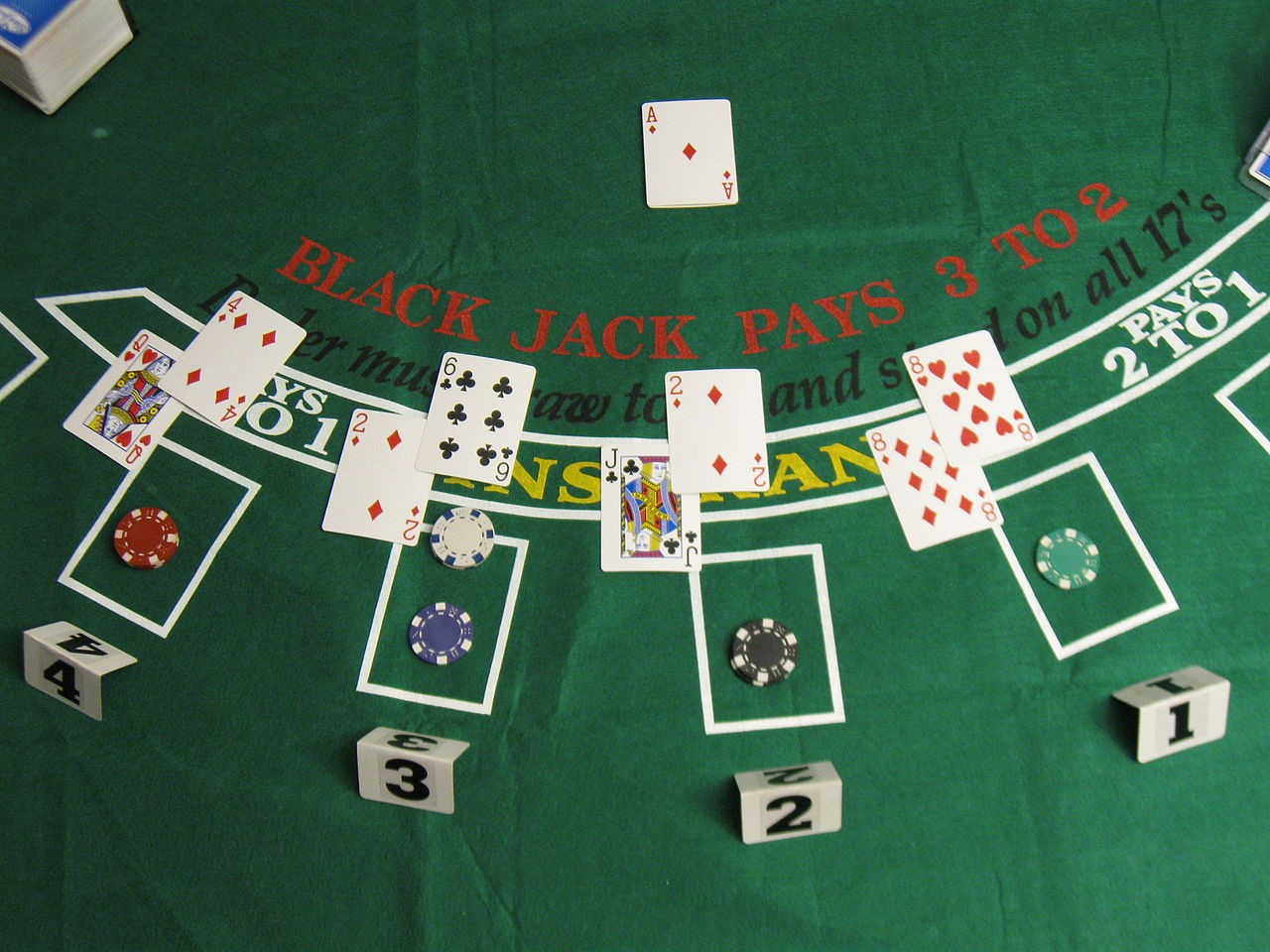 Different card values in a blackjack game