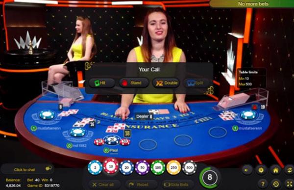 Online Casino Live Blackjac