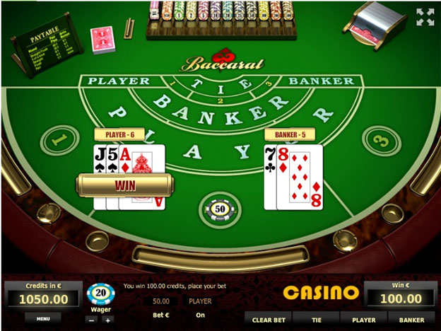 Player and Banker Cards – Sample Game